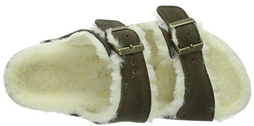 unisex Mocca Fur Braun Classic Arizona Zuecos Lammfell Birkenstock YIfnT4qwx