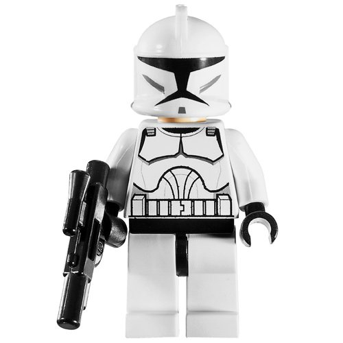 LEGO Star Wars Minifigure - Clone Trooper with Blaster Gun (Clone Wars) (Trooper Wars Blaster Clone)