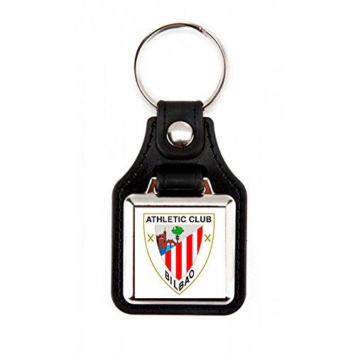 Llavero Athletic Club Bilbao| Llavero fabricado en polipiel cuadrado con escudo Athletic Club Bilbao (1 Unidad)