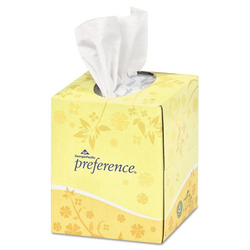 Georgia Pacific Professional Cube Box Facial Tissue, 2-Ply, White, 7 21/32 x 8 27/32 - Includes 36 boxes of 100 sheets each.