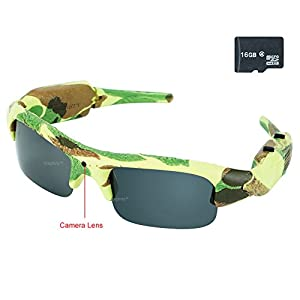 Toughsty 16GB 1920x1080P HD Outdoor Hunting Video Glasses Hidden Camera Eyewear with Photo Taking Function
