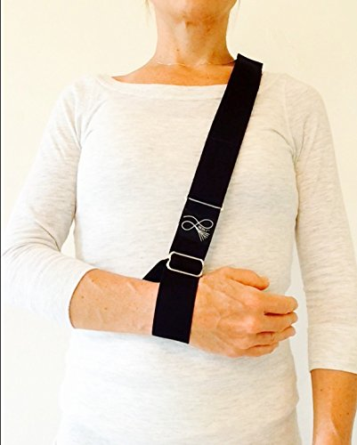 Support Straps -Arm Shoulder Sling, Brace. Soft, Simple and Comfortable for Right or Left Side (Sling Arm Padded)