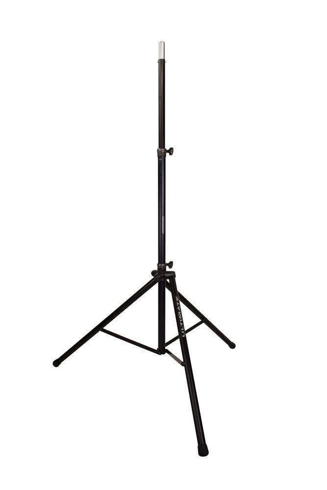 Ultimate Support TS-88B Original Series Aluminum Tripod Speaker Stand with Integrated Speaker Adapter and Extra Tall Height