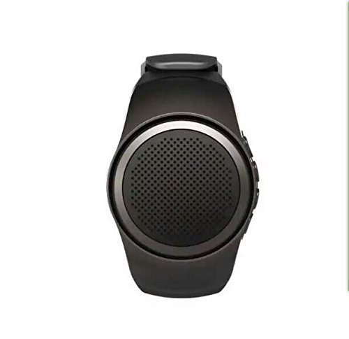 Bluetooth Watch Speaker,Facleta Christmas Gift Portable LoudSpeaker Hands Free Watch Style Wireless Receive Call Music FM WristBand Mini Outdoor Speaker For iPhone,Samsung,Smartphones(Black)