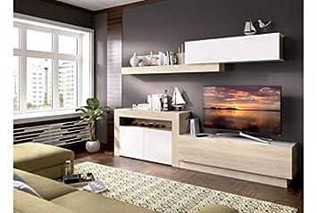 Mueble de salón Comedor Moderno Roma, Medidas: Alto:180cm - Ancho ...
