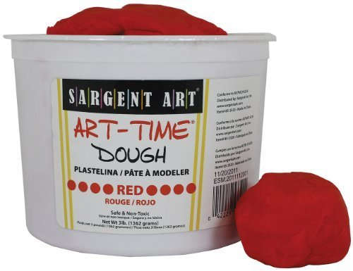 Sargent Art 85-3320 3-Pound Art-Time Dough, Red by Sargent Art