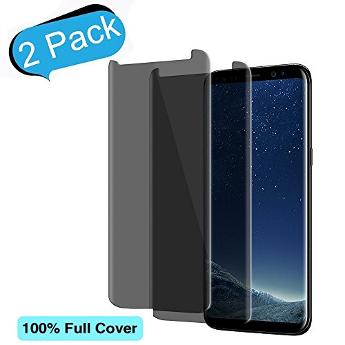 [2-Pack]Samsung Galaxy S8 Plus Privacy Tempered Glass Screen Protector Auideas[Case-Friendly] For Samsung Galaxy S8 Plus[Anti Peeping][9H Hardness][No Bubble][Anti Privacy]