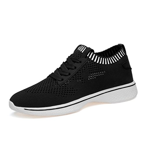 Shoes Spring Hemei 43 Amoureux Mesh Noir Black Sneakers Intensifier Course Durable Tomber Chaussures Sports Men's Shoes De Fashion Comfort YYRqS5w