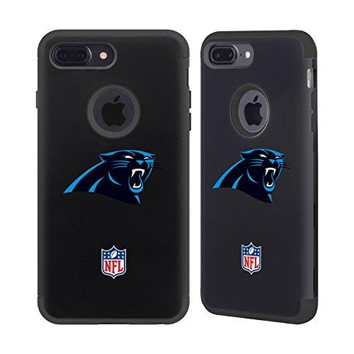 Official NFL Plain Carolina Panthers Logo 2 Black Guardian Case for iPhone 7 Plus/iPhone 8 Plus