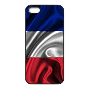 Popular And Durable Designed TPU Case With French flag_004 For iphone 5 5s SE Cell Phone White Cover