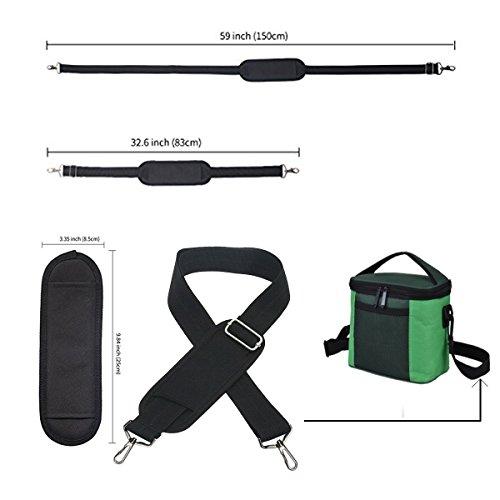 JAKAGO 150cm Universal Adjustable Shoulder Straps Replacement Bag Straps with Metal Swivel Hooks and Non-Slip Pad for Duffel Bag Laptop Briefcase Violin Bag Camera Travel Bag (Black) by JAKAGO (Image #5)