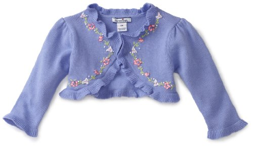 Hartstrings Baby Girls' Sweater Shrug With Ruffles