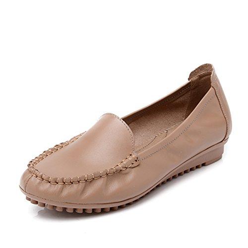 Asakuchi zapatos fondo suave de la mujer/Mamá zapatos zapatos antideslizantes de gran tamaño/Mujer fondo plano medio de zapatos de mujer A