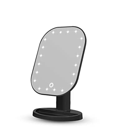 Amazon.com: Espejo de maquillaje con luz LED y pantalla ...