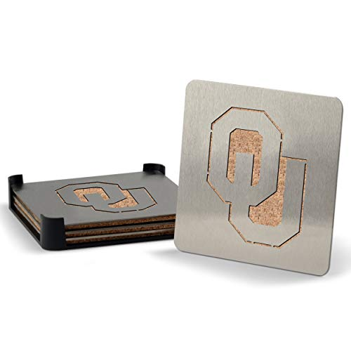 NCAA Oklahoma Sooners Boaster Stainless Steel Coaster Set of 4