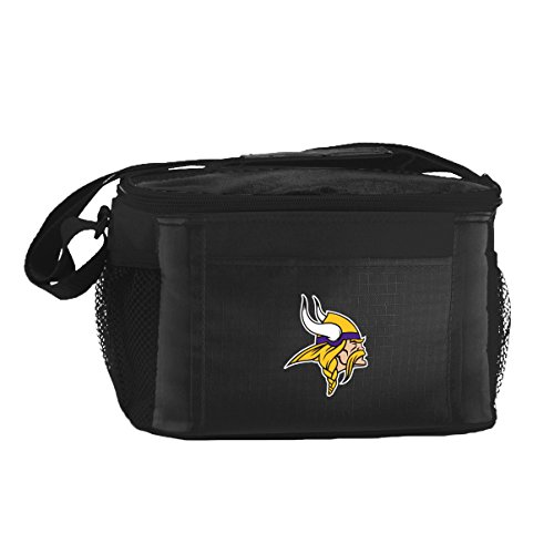UPC 086867898509, NFL Minnesota Vikings Insulated Lunch Cooler Bag with Zipper Closure, Black