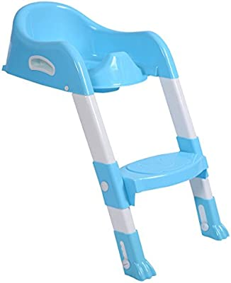 Amazing Costzon Kids Potty Step Trainer Toddler Training Seat Sturdy Non Slip Ladder Blue Andrewgaddart Wooden Chair Designs For Living Room Andrewgaddartcom