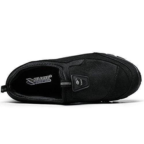 Casual Piatto da Ginnastica Tacco in Scarpe da Scarpe con Unita Tinta da Slip comode Moda Nero Cricket Uomo Sneaker Ct0wx0Oqn