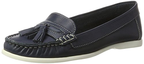 Bianco Jfm17 para Navy Blue Mocasines Sailor Loafer Tassel Mujer Azul OwqTrAO