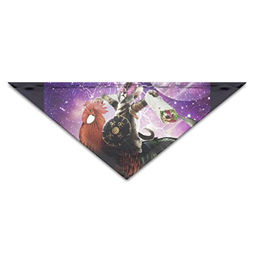 Lovely Lazer Warrior Space Cat Polyester Fiber 100% Pet Scarf Dog Bandana Collars