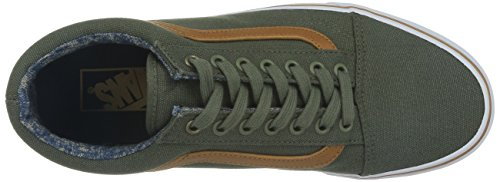Vans Classic Old Skool Olive Mens Trainers beetle washed