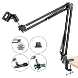 NEEWER Adjustable Microphone Suspension Boom Scissor Arm Stand, Max Load 1 KG Compact Mic Stand Made of Durable Steel for Radio Broadcasting Studio, Voice-Over Sound Studio, Stages, and TV Stations: more info