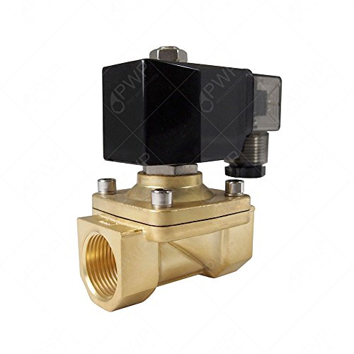 PWP Normally Closed Brass Viton 2-Way Solenoid Valve 110V 1/2