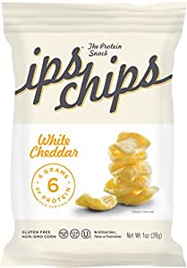 Ips Protein Chips, White Cheddar, 1 Ounce (Pack of 24)