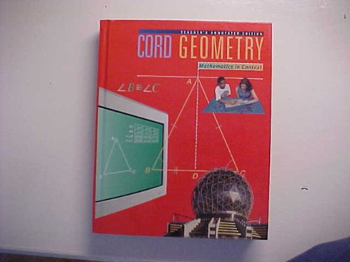 Books : Cord Geometry Mathematics In Context Teacher's Annotated Edition ISBN 0538681284 (Cord Leading Change In Education)