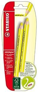 Stabilo B-39170-10 Greenlighter - Lápiz para subrayado (2 unidades), color amarillo
