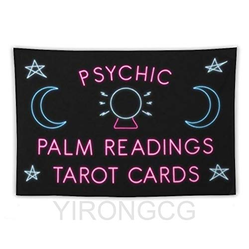 YIRONGCG Psychic Palm Readings Tarot Cards Tapestries Wall Hanging Home Decorations for Living Room Bedroom 100x150CM