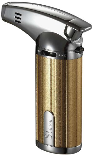 Visol Products Fiamma Culinary Torch, Gold and Chrome