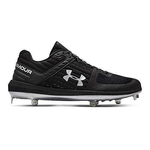 Under Armour Men's Yard Low ST Baseball Shoe, Black (002)/Metallic Silver, 10 M ()