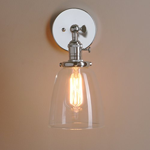 Farmhouse Indoor Sconce. Great Wall Light With Cord Brushed Nickel ...
