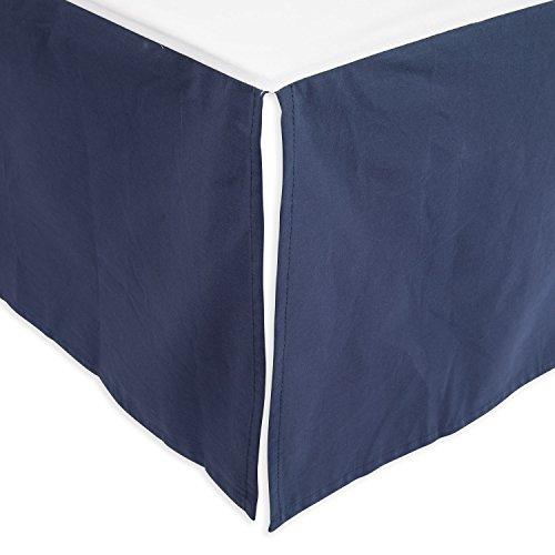 Little Unicorn Percale Crib Skirt - Indigo Wash - Indigo Classic Wash