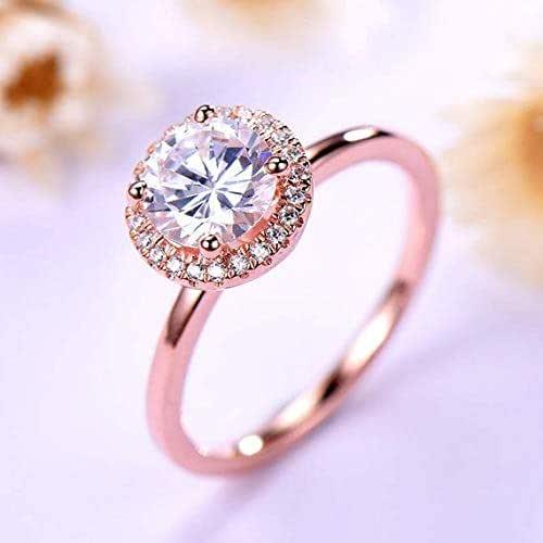 Amazon Com 7mm Round Cut Cz Diamond Cubic Zirconia Engagement