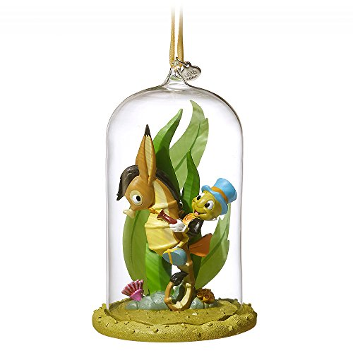 Disney Jiminy Cricket Glass Dome Sketchbook Ornament - Pinocchio