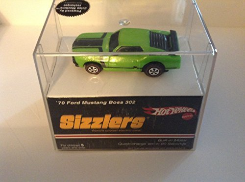 Hot Wheels Sizzlers Green '70 Ford Mustang Boss 302. Built-in Motor. Quick charge Sizzler car in 90 seconds. Charger sold ()
