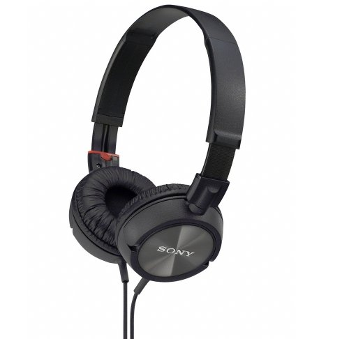 Sony Lightweight Dynamic Studio Monitor Stereo Headphones with Superior Sub-Harmonic Bass Response, Pressure Relieving Earpads, Swivel Earcups, High Power Neodymium Magnets, 30mm Deep Bass Drivers, Multi-Layer Dome Diaphragms and a Noise-Reducing Closed Supra-Aural Design - Black with Metallic Finish - Compatible with all Portable and Home Audio Players