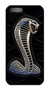 Mustang Shelby Black Plastic Case for Apple iPhone 5s 5, PC Hard Plastic Apple iPhone 5 5s Case by runtopwell