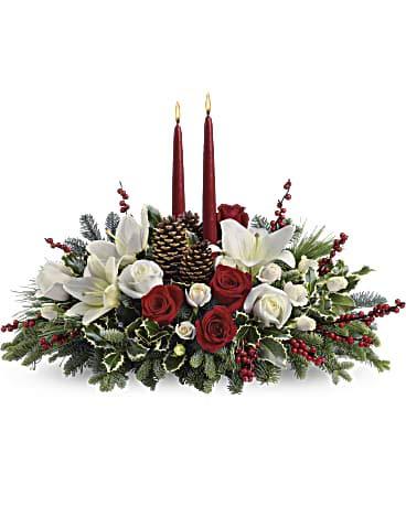 Christmas Wishes Centerpiece (Teleflora Christmas Centerpieces)