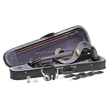 Stagg EVN 4/4 MBK - Violín eléctrico (set completo), color negro metálico: Amazon.es: Instrumentos musicales