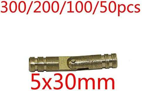 300//200//100//50pcs Brass Cylinder Door Hinge Bolts Antique Vintage Chinese Style Hardware Accessories Wooden Door Hinge Yellow Color: 5x30mm, Size: 200pcs