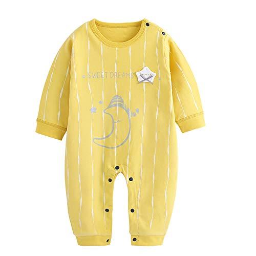 Bebé del patrón de manga larga Romper la luna de dibujos animados ropa interior de algodón transpirable Mono Mono Bodies…