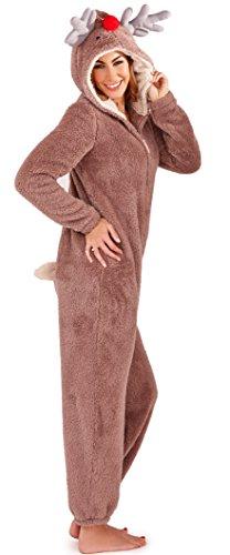 be31a52fd3 Antlers With Hood Kids Onesie Fleece All And In Tail Nose One Ladies  Seasonal 3d Reindeer ...