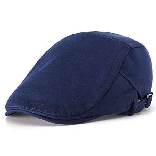 Unisex Classic Solid Newsboy Cap - Navy Irish Flat Cap Men Ivy Gatsby Cap ()