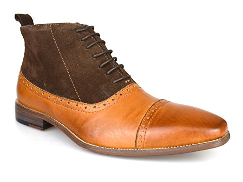 D273 4 Gucinari Tan Formal Brogue amp; Boots Leather Luciano Brown 6q6fzwO8