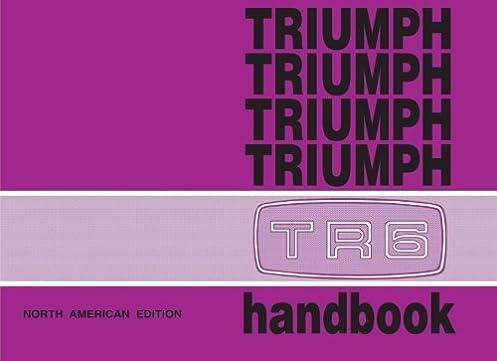 triumph tr6 official owner s handbook us edition brooklands books rh amazon com triumph tr6 repair manual pdf triumph tr6 service manual