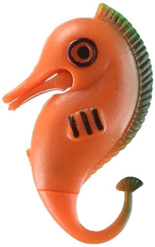 uxcell 3 Piece Plastic Fish Aquarium Seahorse Ornament Décor, Orange