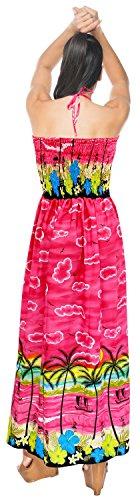 m673 Donne Capestro LA Beachwear Esterno Pannello da Tubo Abito Superiore da Costume Sera Rosa Coprire Bagno del Maxi Lungo LEELA t8qw8pH